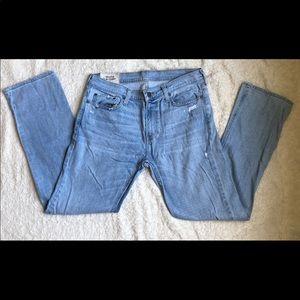Hollister Slim Straight Distressed Jeans
